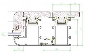 Assieme perimetrale mm.71×118 – vetro spessore mm.6