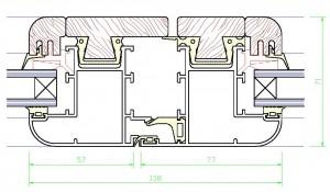 Assieme centrale mm.71×138 – profilo TZ