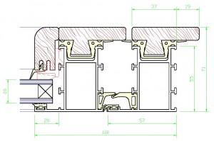 Assieme perimetrale mm.71×118 – vetro spessore mm.20