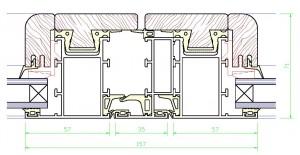 Assieme centrale mm.71×157 – profilo di RIPORTO