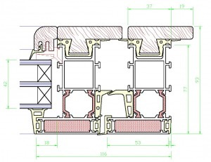 Assieme perimetrale mm.93×118 – vetro spessore mm.42